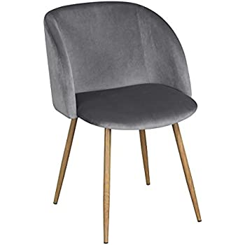 ArmChair Mid Century Velvet Accent Living Room Arm Chair,Upholstered Accent  Chairs Club Chair With Solid Steel Leg Modern Furniture   Gray