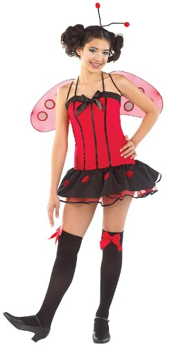 Charades Costumes - Little Miss Ladybug Tween Costume - Pre-Teen (12/14)