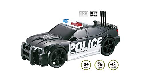 City Service Police Toy Car for Kids with Lights and Siren Sounds - Friction Powered Vehicle - Patrol, Rescue and Pursuit Play Toys for Your Little Cops