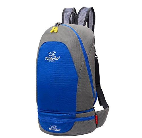 ROBAG Montañismo al aire libre bolso doblado bolsillos unisex par de bandolera , red blue