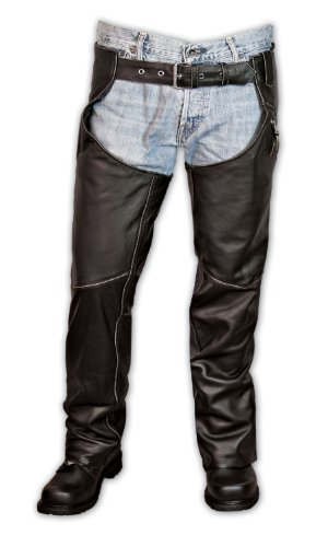 Interstate Leather Unisex Gangster Chaps (Black, ()