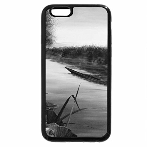 iPhone 6S Case, iPhone 6 Case (Black & White) - Delta of the River