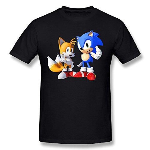 Refire Men's Sonic The Hedgehog Tee Shirts Black L (Adult Hedgehog)