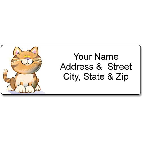 Cat Return Address Labels - Cat Address Label - Customized Return Address Label - 90 Feline Labels