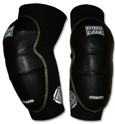 Ring to Cage Deluxe MiM-Foam Elbow Pads - Leather for Muay Thai, MMA, Kickboxing, Stand up-Regular
