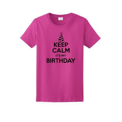 Keep Calm Birthday Ladies T Shirt