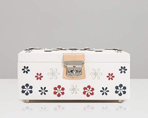 WOLF 467153 Blossom Medium Jewelry Box, White