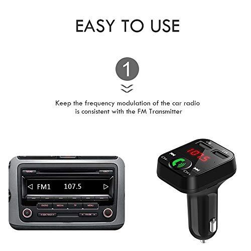 Jonerytime❤️Car Kit Handsfree Wireless Bluetooth FM Transmitter LCD MP3 Player USB Charger White by Jonerytime_ Home & Garden (Image #2)