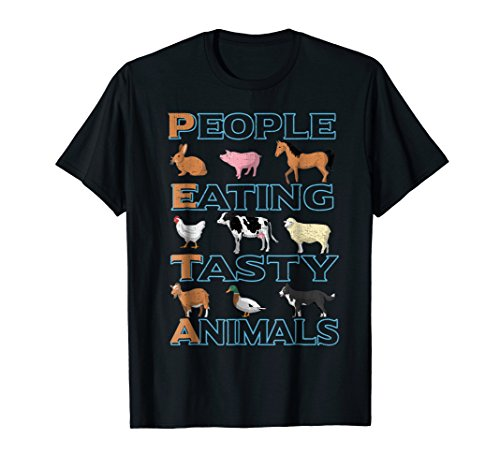 (People Eating Tasty Animal Funny Meat EaterTshirt)