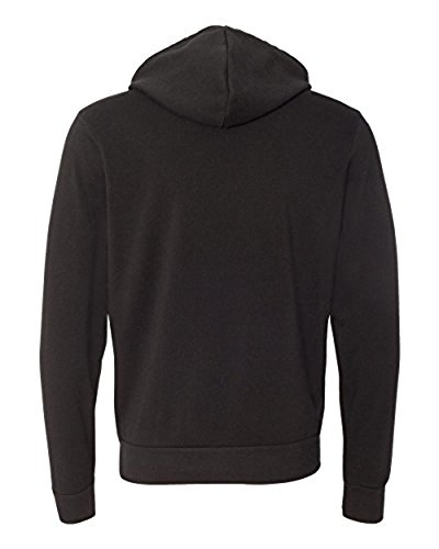 Hooded Pullover Bella (Bella + Canvas Unisex Poly-Cotton Fleece Pullover Hoodie (Black) (M))