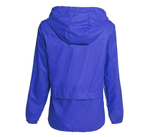 Hount Women's Lightweight Hooded Raincoat Waterproof Packable Active Outdoor Rain Jacket (S-3XL)