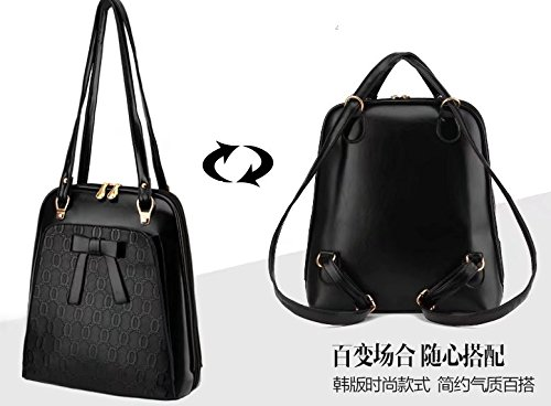 Sac Cartable dos Noir Fille Femme Cuir Scolaire Backpack dos Marron porté Sac à CrwqAX8r