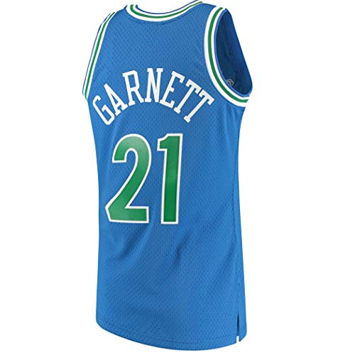 Anxiously Men's_Kevin_Garnett_Blue_Basketball Jersey Fans Replica Game Jersey Sportswear T-Shirt (Youth Kevin Jersey Garnett)