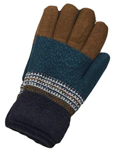 n Autumn Cotton Striped Gloves Coffee OS (Cotton Striped Gloves)