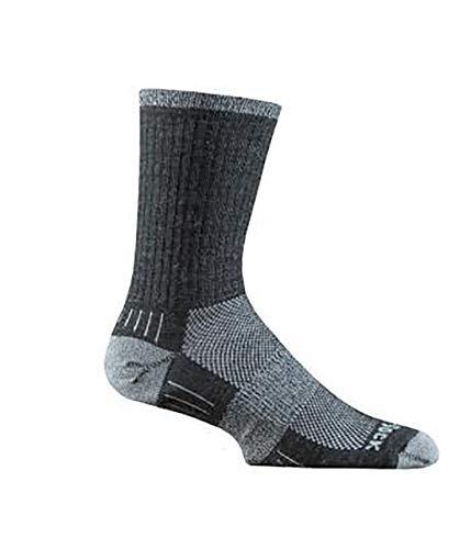 Wrightsock Merino Escape Crew Sock; Grey/Smoke - Medium With a Helicase Sock Ring