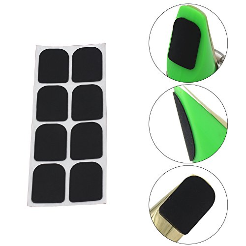 8pcs 0.8mm Black Rubber Soprano Saxophone Sax Clarinet Mouthpiece Pads Patches Cushions