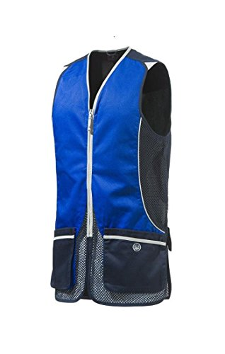 (Beretta Mens Silver Pigeon Shooting Vest, Blue Navy and Blue XCELL, XL)