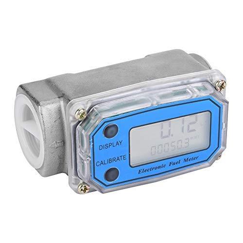 (Mini Digital Stainless Steel Turbine Gas Oil Fuel Flowmeters Diesel Kerosene Fuel Flow Meter 15-120L/min 1