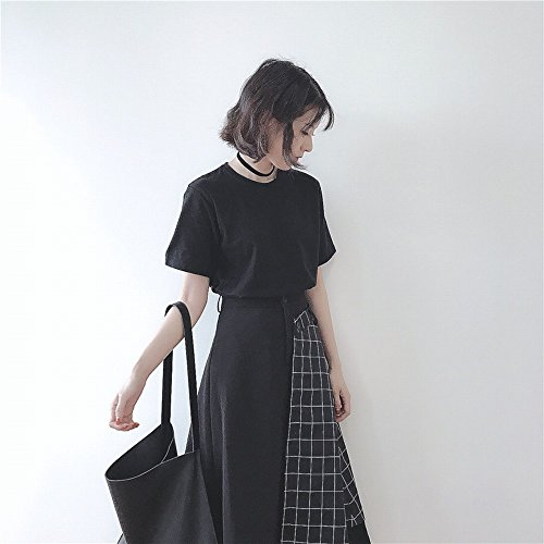 STTS Style Jupe de Poche Couture Haute Taille tait Mince Sauvage Une Jupe de Mot Femme,?Une,Code Moyen