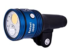 The Radiant 3000F Video Light lets you capture true-to-life underwater videos and stills. It works with any underwater camera system with its built-in YS connector. This device uses LEDs for red, blue, spot, and flood lights to create realist...