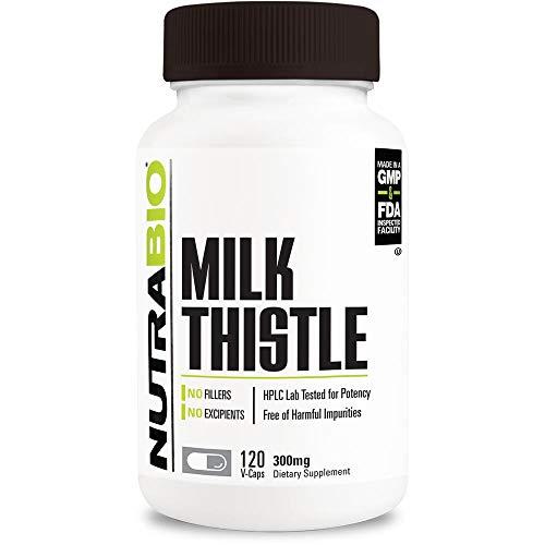 NutraBio Milk Thistle (600mg) – 120 Vegetable Capsules For Sale