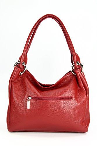 Marrón b Piel Cm Mujer Coñac Para T De H Belli Al 20x12x8 X Hombro Rojo Bolso qpwaIPf0