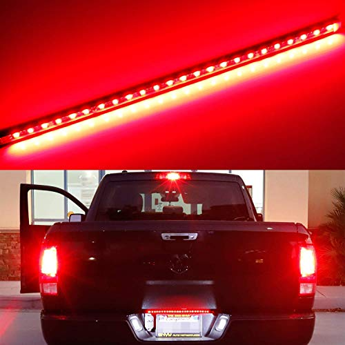 iJDMTOY Universal Fit 17-Inch Red LED Tailgate Light Strip For Truck or SUV, Powered By 24-Piece SMD LED Diodes, Flexible Strip w/Tail Running and Brake Light Feature (Best Light Suv 2019)