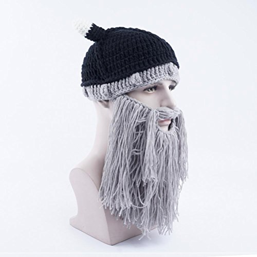 Gorros Invierno Gorras Grey Sombreros Bearded Halloween Beanie Vagabond Light Gracioso Punto Gorras De Unisex qOZwvYwna