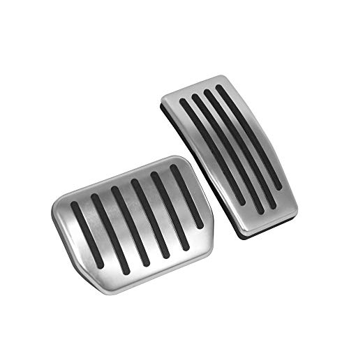 RSZX Car Anti-Slip Gas Brake Pedal, Auto Aluminium Accelerator Brake Pedal Cover for Tesla Model 3(A Set of 2) (Model ()