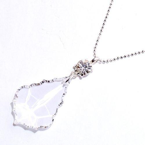 Amazon swarovski crystal leaf necklace in clear crystal leaf swarovski crystal leaf necklace in clear crystal leaf crystal drop necklace swarovski leaf necklace aloadofball Gallery
