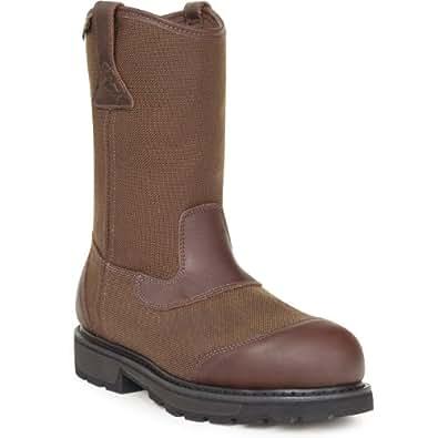 Rocky Steel Toe Waterproof Wellington Work Boot-6639 (M8.5)