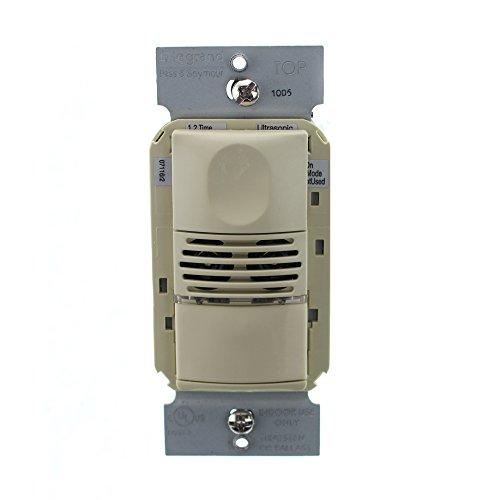 Pass & Seymour WDT100-I Dual-Tech Occupancy Sensor Wall Switch, 120/277V, Ivory