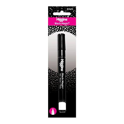 Higgins Black Magic Ink Pump Marker, Waterproof, 1mm Removable Brush Tip, Black (44011MKR.BC)