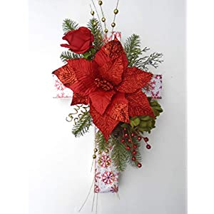 Amazing Cemetery Christmas Cross featuring Christmas Blooms 13