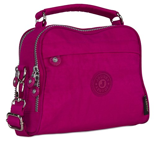 Big Handbag Shop - Bolso de asas de tela para mujer hot pink