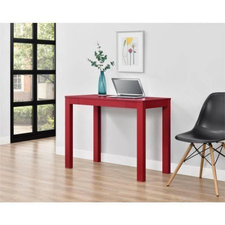 NEW Parsons Desk with Drawer, Multiple Colors (Mdf Rectangular Table)