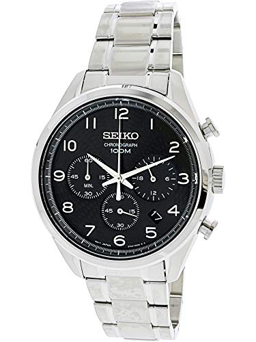 Seiko Chronograph Black Dial Mens Watch SSB295P1