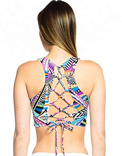 Daughters of Culture Women's Infinity Bra, Adjustable Cross Back (32-38 Bust) - Cairo Print