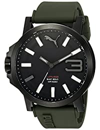 PUMA Unisex PU103911002 Analog Display Quartz Green Watch