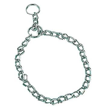 Collar de cadena para cachorros, fuerte, acero inoxidable, metal, collar de adiestramiento para perros, mascotas