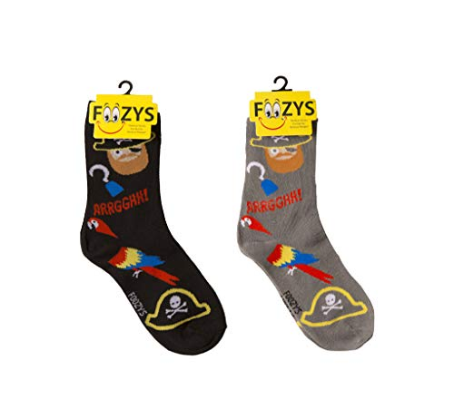 Foozys Women's Crew Socks | Pirate & Parrot Island Oasis Novelty Socks | 2 Pair -