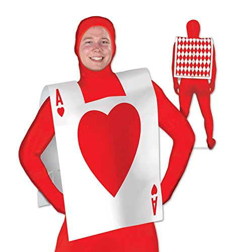 Party Central Club Pack of 12 Alice in Wonderland Red and White Ace of Hearts Full Size Vest 25 -