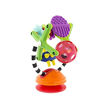 Sassy Teethe & Twirl Sensation Station 2-in-1 Suction Cup High Chair Toy | Developmental Tray Toy for Early Learning | for Ages 6+ Months : Baby