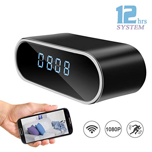 DareTang HD 1080P WiFi Hidden Camera Alarm Clock Night Visio