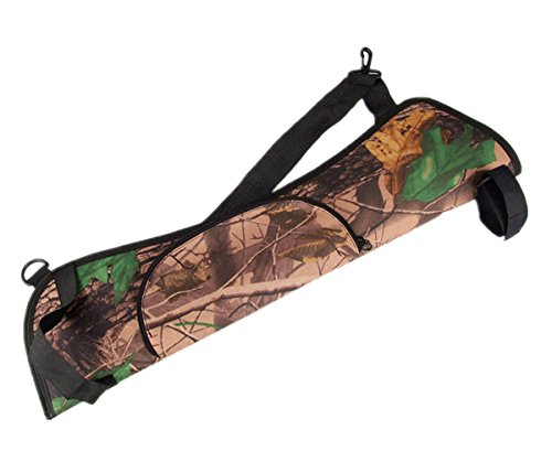 UNISTRENGH Outdoor Hunting Training Camo Archery Arrow Holder Bow Belt Quiver with Adjustable Strap Back Side Waist Hanging (Style-02, 5817cm) - Adjustable Bow Holder