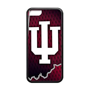 Simple Active NCAA Indiana Hoosiers Apple Iphone 5C Case Cover TPU Laser Technology University