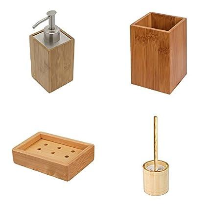 Baño con dispensador de jabón, vaso para cepillos/jabonera/WC