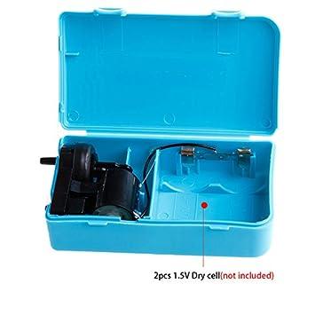 LANDUM Batería portátil de Aire Batería de Aire alimentada con Bomba de oxígeno de Reserva para el Acuario Pecera: Amazon.es: Hogar