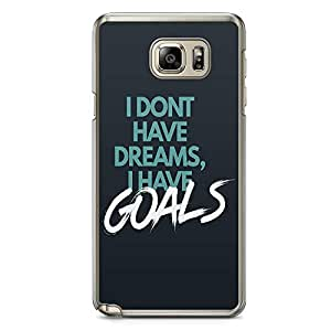 Samsung Note 5 Transparent Edge Phone Case Quote Phone Case Harvey Specter Phone Case Goals Note 5 Cover with Transparent Frame