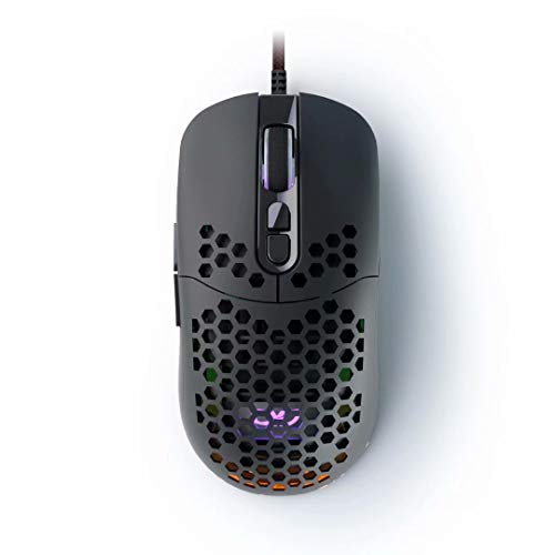 QYD Gaming Mouse Wired RGB LED Backlit USB Computer Mouse, 7 Programmable Buttons Lightweight Honeycomb Mouse 7200 DPI…
